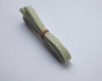 1cm wide Pale Green Sinamay Bias Bind - 1.2 metres long, ideal for edging or looping