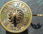 Brass Zodiac Incense Burner - Vintage Censer - Oppemheim Israel - Astrology