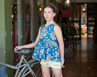 NEW: Lilly Shorts TWEEN PDF Sewing Pattern & Tutorial, All sizes 10-16 Included