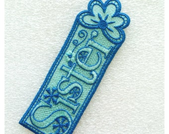 """1 """"Sister"""" Bookmark (Lace) Bookmark"""