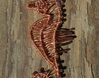 Copper Sea Horse Necklace