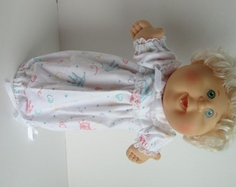 """14"""" Baby Cabbage Patch Handprint Nightgown"""