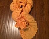 Hemp/Silk Crepe Scarf-  Orange