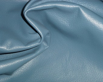 "Leather 12""x12"" Newark / Air Force Blue DIVINE Top Grain Cowhide 2-2.25 oz / .8-.9 mm - FULL hides available  PeggySueAlso"