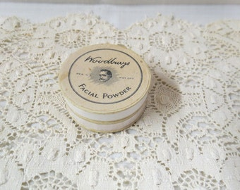 Antique Gentleman's After Shave Talc Face Powder Box With Contents Victorian