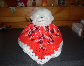 Baby's Valentine Poncho