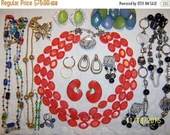20 OFF EVERYTHING Vintage Jewelry (Lot 127). Big and medium.
