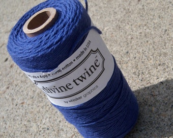 Divine Twine - Bakers Twine - Solid Blueberry Shown - Your Choice of Color and Amount