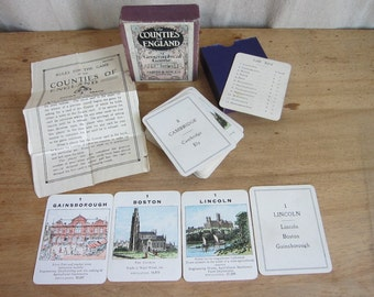 Vintage Games, Vintage Card Games, Counties of England Geographical Game, 3rd Series