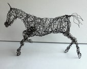 Unique Wire Horse Sculpture - HYPERION