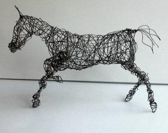 Unique Wire Horse Sculpture - HYPERION
