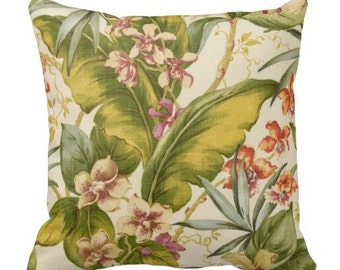 Tommy Bahama Outdoor Pillows, Palm Tree Pillows,Throw Pillow,Patio Pillows, Outside Pillows, Tropical Pillow Covers,Palm Pool Pillows