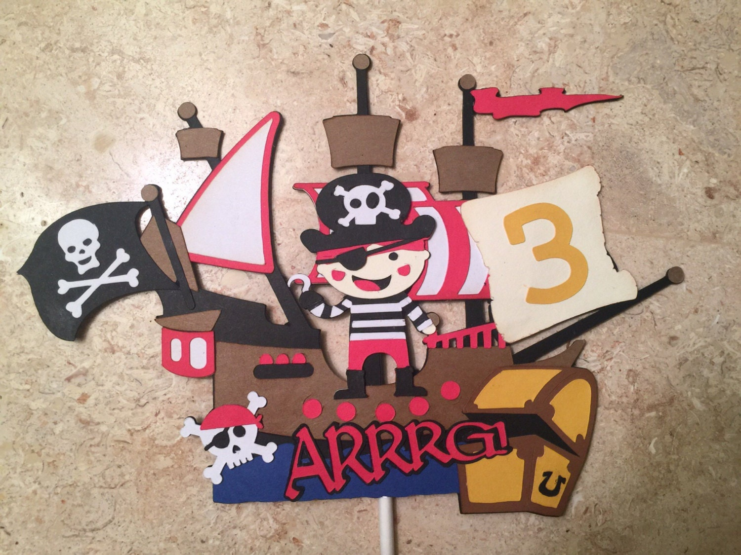 Pirate Cake Topper/Pirates Theme Party/Pirates of the