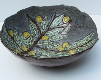 ceramic leaf bowl; ceramics and pottery bowl