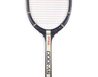 Wooden Tennis Racket / Wilson Tennis Racket / Black Wilson SV-1000 Tennis Racket / Antique Tennis Racket / Wooden Racquet Wood Tennis Racket