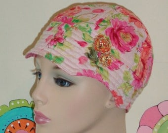 Cancer Hat SALE Soft Chemo Cap Hair Loss Hat Handmade in the USA. (For Size Guide, see 'Item Detials' below phtos.) SMALL