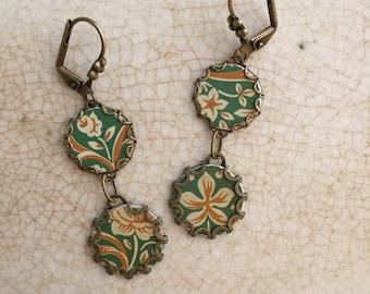 "Tin Jewelry Earrings ""On Jade"" Tin for the Ten Year Tenth Wedding Anniversary"