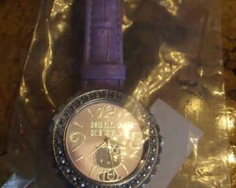 Hello Kitty, purple band, watch