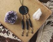 Dark New Moon Dreamcatcher Necklace