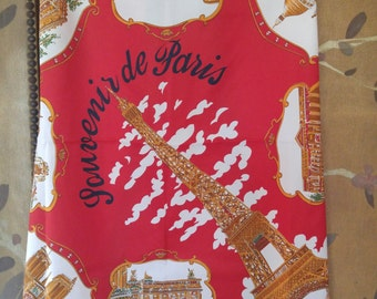 80s Paris souvenir scarf by Roger L Paris