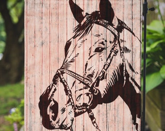 Horse Flag | Horse Head |  Yard Lawn Decor | Garden or Large House Flag | Made in the USA