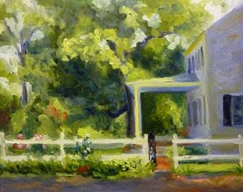 Farmhouse Original Landscape Oil Painting