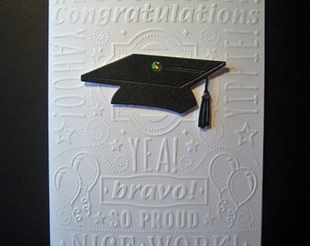 Embossed Graduation Card