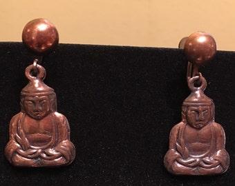 Vintage Buddha Earrings