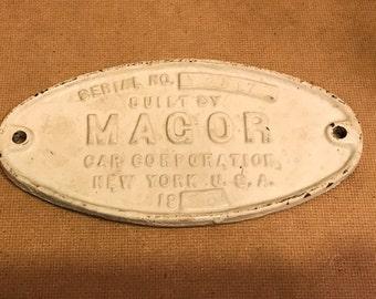 Magor Railroad Car Corporation Plaque