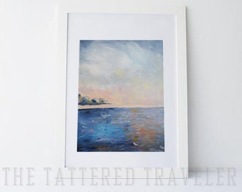 Gentle Waves | Ocean Waterscape Painting | Giclee Art Print