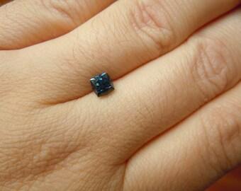 Genuine Montana Sapphire Teal Square Brilliant .94 carat Loose Gemstone for Engagment