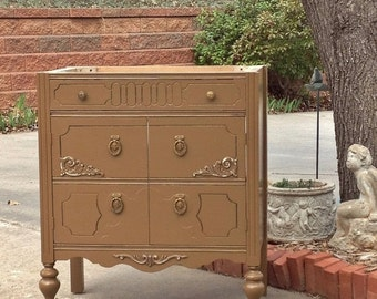 "ON SALE Antique Dresser BATH Vanity Cabinet Custom To Order Converted For Bathroom 28"" to 48"" Wide"