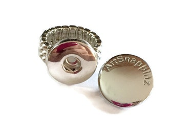 Interchangeable Ring Base Works with  DIY Snaps- Oh Snap - Gifts for her- boho- bridesmaid  - bohemian- wedding gift - handmade