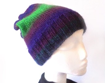 Gradient Knitted Beanie **Navy*Plum*Purple*Green** For Kids, for Teens