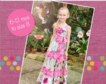Mindy's Sweetheart Maxi and Sundress PDF Pattern Sizes 6-12m to 8 Girls