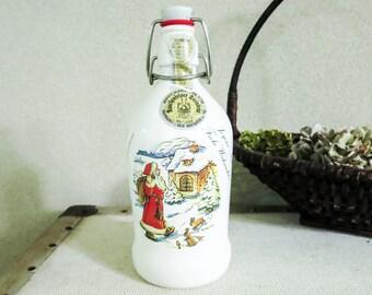 German Rauchenfelser Steinbier Beer Bottle with Monika Keller Cole Art - Man Cave or Bar Decor - Christmas Decoration - Gift for Him, Man
