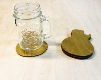 Gibson Guitar Wooden Drink Coasters