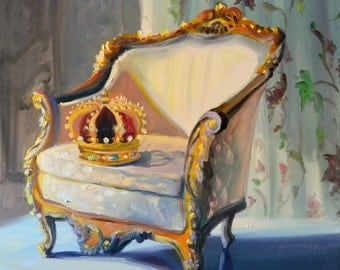 Still life art print,CROWN INTERIOR