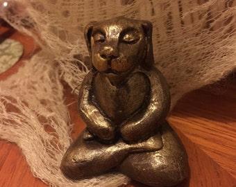 Buddha Dog Sculpture Buddha Sculpture Zen Puppy Statue Yoga Meditation Golden Retriever Chocolate Labrador Dog Rescue Pet Gift Custom Color