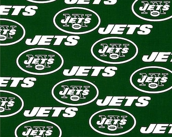 NFL New York Jets 100%Cotton Fabric by the Yard V3