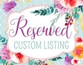 Reserved Listing | Nicholl