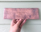 Metal House Plaque - Custom & Personalized Rustic Copper Hammered Sign - Understated Primitive Address Placard - Unique Housewarming Gift