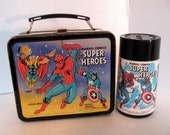 Marvel Comics Super Heroes Lunchbox and Thermos Aladdin Industries 1976