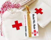 Hot Mess Party Favor Single Hair Ties and Card Hangover Survival Kit 21st birthday dirty 30 girls night out bachelorette party
