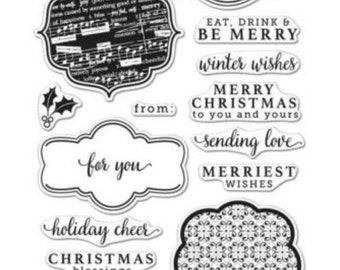 Sale Hero Arts Holiday Messages Cl983 matches die DI318 Holiday Tags Frame Cuts: Christmas, season's greetings, stamping, papercrafts
