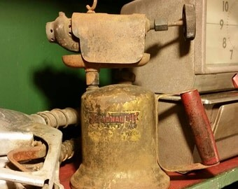 Vintage Brass Blow Torch by Dreadnaught