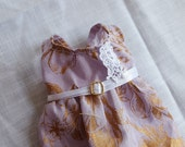 Gold and lavender dress (Sale)