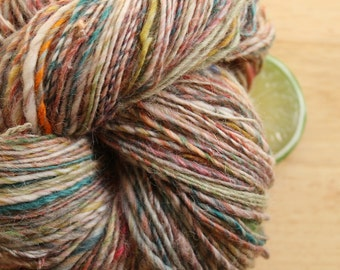 Country Dance - Handspun Alpaca Wool Yarn Colorful Sport