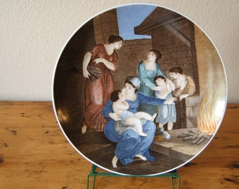 Vintage Bareuther Bavaria Germany Franceso Bartolozzi Seasons Plate Winter Bareuther Waldsassen Plate from The Eclectic Interior