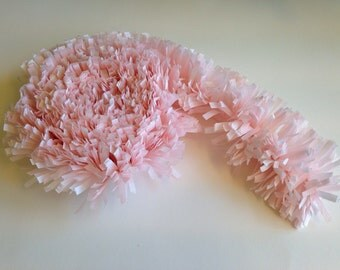 Craft Supplies Festooning Crepe Paper Garland Banner Pink and White Handmade Decoration Decorating Supply